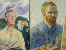 Edvard Munch and Vincent Van Gogh, self portraits, Amsterdam, Netherlands